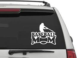 Amazon Com Yingkai Baseball Mom Sport Decor Car Decal Vinyl Wall Decal Sticker Vinyl Lettering Removable Decal For Car Laptop Decoration Home Kitchen