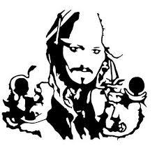 Captain Jack Sparrow Vinyl Decal Sticker Car Wall Window Ipad Iphone Pirates Ebay