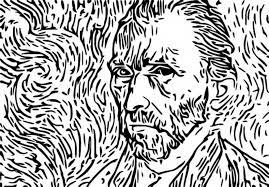Anti Stress Kleurplaten Van Gogh Zelfportret 2