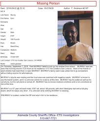 LOCATED! Help us find Kent Murray.... - Alameda County Sheriff's Office |  Facebook