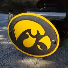 University Of Iowa Car Accessories Hitch Covers Iowa Hawkeyes Auto Decals Bigtenstore Com