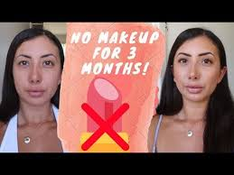 no makeup challenge before and after