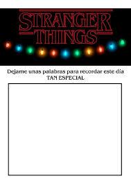 Kit Stranger Things Invitaciones Banderines Editable 250