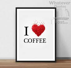 coffee lovers quote coffee shop sign poster print wall art print