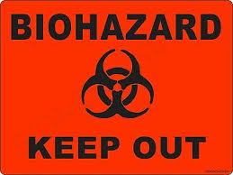 Biohazard Keep Out Collectible Sign Wall Art Decor Man Cave Or Kids Room Ebay