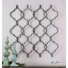 53 Zakaria Hand Forged Aged Black Quatrefoil Design Decorative Metal Wall Art Walmart Com Walmart Com