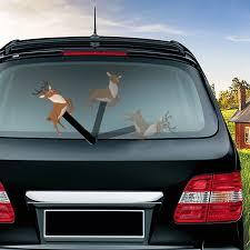 Leaping Elk Waving Wiper Decals Pvc Car Styling Rear Window Wiper Stickers Rear Windshield Stickers Car Stickers And Decals Car Stickers Aliexpress