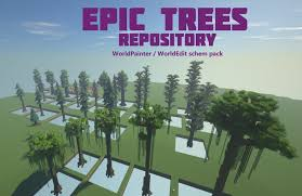 Epic Trees Huge Trees Pack Repository Minecraft Map