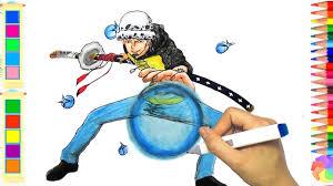 Cách vẽ Trafalgar Lawi trong One Piece ▻ Lamdepchobe TV - YouTube