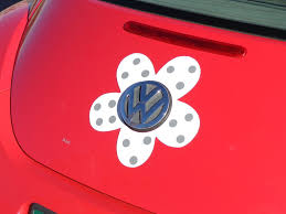 Magnetic Decal Flower Gray Polka Dots Bling My Bug