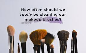 cleaning our makeup brushes