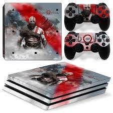 Ps4 Pro Playstation 4 Console Skin Decal Sticker God Of War Custom Design Set 743031185383 Ebay