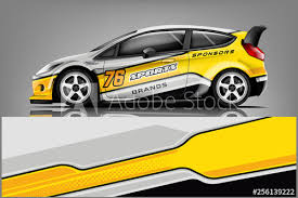 Car Decal Wrap Design Vector Graphic Abstract Stripe Racing Background Kit Designs For Vehicle Race Car Rally Adventure And Livery Buy This Stock Vector And Explore Similar Vectors At Adobe Stock
