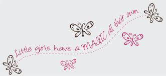 Children S Quotes Sayings Wall Decals Stickers Little Girls Have Magic Vinyl Wall Graphics
