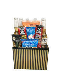 beer and snacks gift box chagne