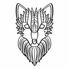 Wolf Kleurplaat Download Free Vectors Vector Bestanden