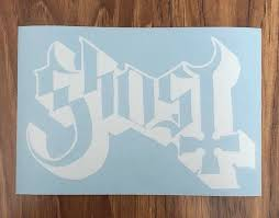Ghost Band Vinyl Decal Sticker 6x4 Color White Etsy