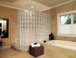 glass block shower bathroom shower