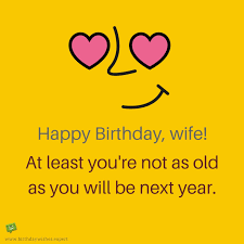 funny happy birthday wife wishes to
