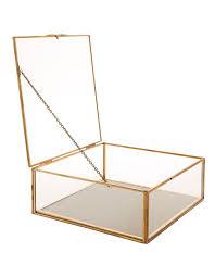 gold glass jewelry box jewelry star