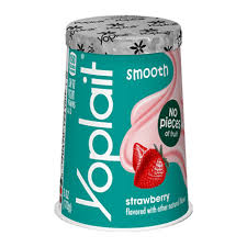 strawberry smooth yogurt no pieces of