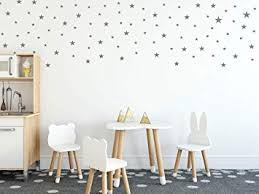Amazon Com Assorted Mix Size Removable Wall Decals For Kids Room Decoration 170pcs Mix Silver Stars Wall Decals Easy To Peel Easy To Stick Metallic Vinyl Decor By Bugybagy Silver Stars