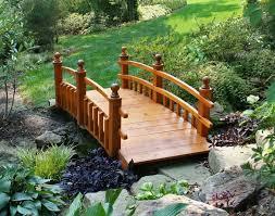 garden timber japanese garden bridge