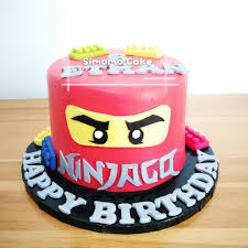 Red Ninjago cake, lego cake (FREE DELIVERY), Food & Drinks, Baked ...