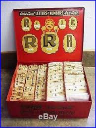Vtg Duro Dan Sign Maker Display Box Decal Letters Numbers Vintage Store Display