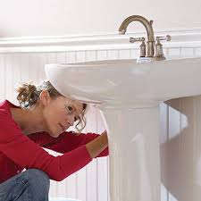 how to install a pedestal sink the