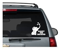 Cute Elephant Baby On Board Decal Baby Decal Car Decals Etsy
