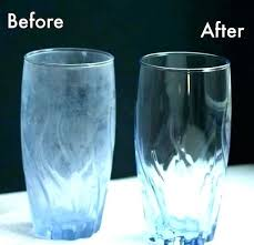 hard water stains from glass dishes
