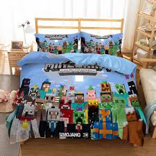 minecraft isometric 3 piece twin bed