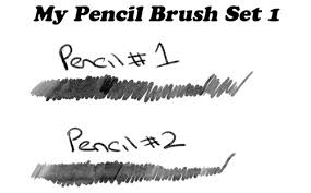 sets of free photo pencil brushes