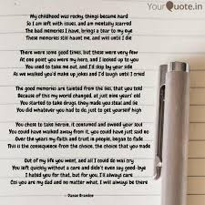 my childhood was rocky t quotes writings by danae brandon