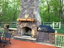 outdoor fireplace and smoker you