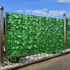 Hot Sale Artificial Leaf Screening Roll Uv Fade Protected Privacy Hedging Wall Landscaping Garden Fence Balcony Screen For Outdoor Garden Fence Backyard Home Decor Greenery Walls Lazada Ph