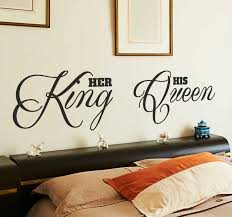 King Queen Headboard Sticker Tenstickers