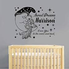 Dalab Baby Girl Room Decorative Stickers Gold Heart Wall Sticker For Kids Room Wall Decal Stickers