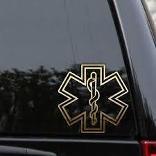 Star Of Life Emt Decal Sticker Ems Ambulance Medical Emergency Paramedic Window Ebay