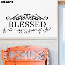 Family Blessed By The Amazing Grace Of God Wall Art Stickers Wall Decals Home Diy Decoration Removable Room Decor Wall Stickers Wall Stickers Aliexpress
