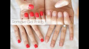 how to remove gel nail polish at home