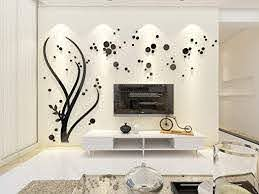 Amazon Com Wowelife 3d Wall Sticker Mirror Tree Wall Decal Home Decor Living Room Bedroom Tv Background Black Tree Stickers Black Left Tree M Home Kitchen