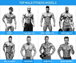 20 top male fitness models and their