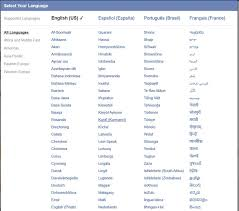 how to change the language on your facebook account and news feed