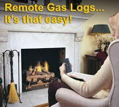 remote control gas logs