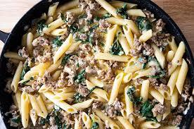creamy italian sausage pasta the