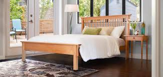 handcrafted wood beds vermont woods