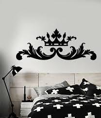 Vinyl Wall Decal Headrest Bed King Queen Crown Bedroom Decor Stickers 2894ig Ebay