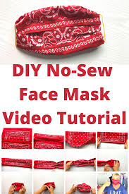 Easy No-Sew DIY Face Mask with Bandana ...